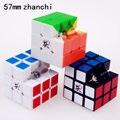 57mm dayan 5 zhanchi magic speed cube puzle ultra suave cubo mágico profesional pegatinas clásicas juguetes para niños