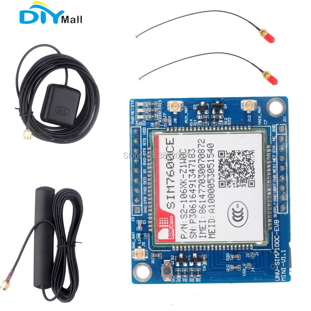 SIM7100C SIM7600CE Development Board 4G Module GSM/GPRS/EDGE900/1800MHz LTE Band gprs gsm sms development board communication module m26 ultra sim900 stm32 internet of things with positioning
