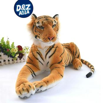 Аутентичная имитация тигра Плюшевая гигантская Тигр король джунглей плюшевая игрушка кукла мальчик Дети Рождественские подарки полный ра...