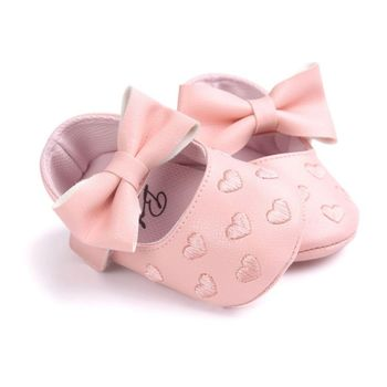 Baby PU Leather Baby Boy Girl Baby Moccasins Moccs Shoes Bow Fringe Soft Soled Non-slip Footwear Crib Shoes 2