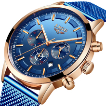 Relogio Masculino LIGE Casual Fashion Mens Watches