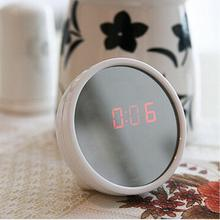Mirror Surface LED Clock Night Light Electronic Alarm Clock Creative Mini Desktop Clock Drop Dhipping #02