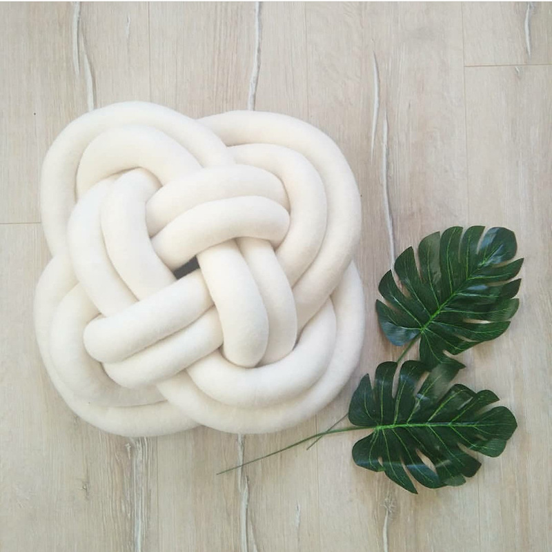 Toys & Hobbies 35x15cm Plush Flower Shape Knot Ball Soft Decoration Sofa Back Cushion Pillow Creative Handmade Craft Baby Playing Stuffed Doll