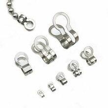 Нержавеющая сталь, двойные петли, бусины, пряжки, застежки, шнур, заглушки, струны, заглушка, сделай сам, шаровая цепь, соединители фурнитура для украшений