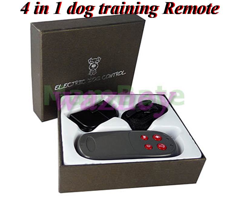 US $210 97 |4 in 1 Vibration and Static Impulse ELECTRONIC REMOTE DOG  TRAINING COLLAR No Bark REMOTE DOG TRAINING Shock * 20pcs/lot *-in Training
