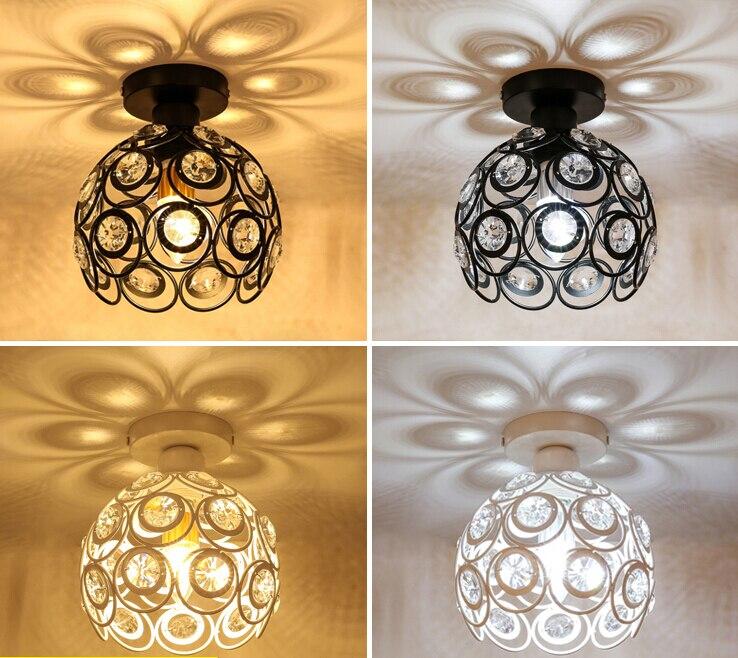 AC110V 220 v Allée Cristal Plafond Luminaire lampe porte lumières couloir porche salle à manger Moderne LED Plafond lampe