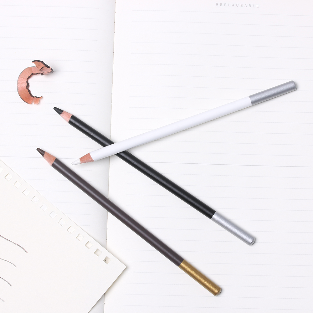2pcs professional white highlight liner sketch art drawing pencil sketching pencils charcoal painting tool art marker manga