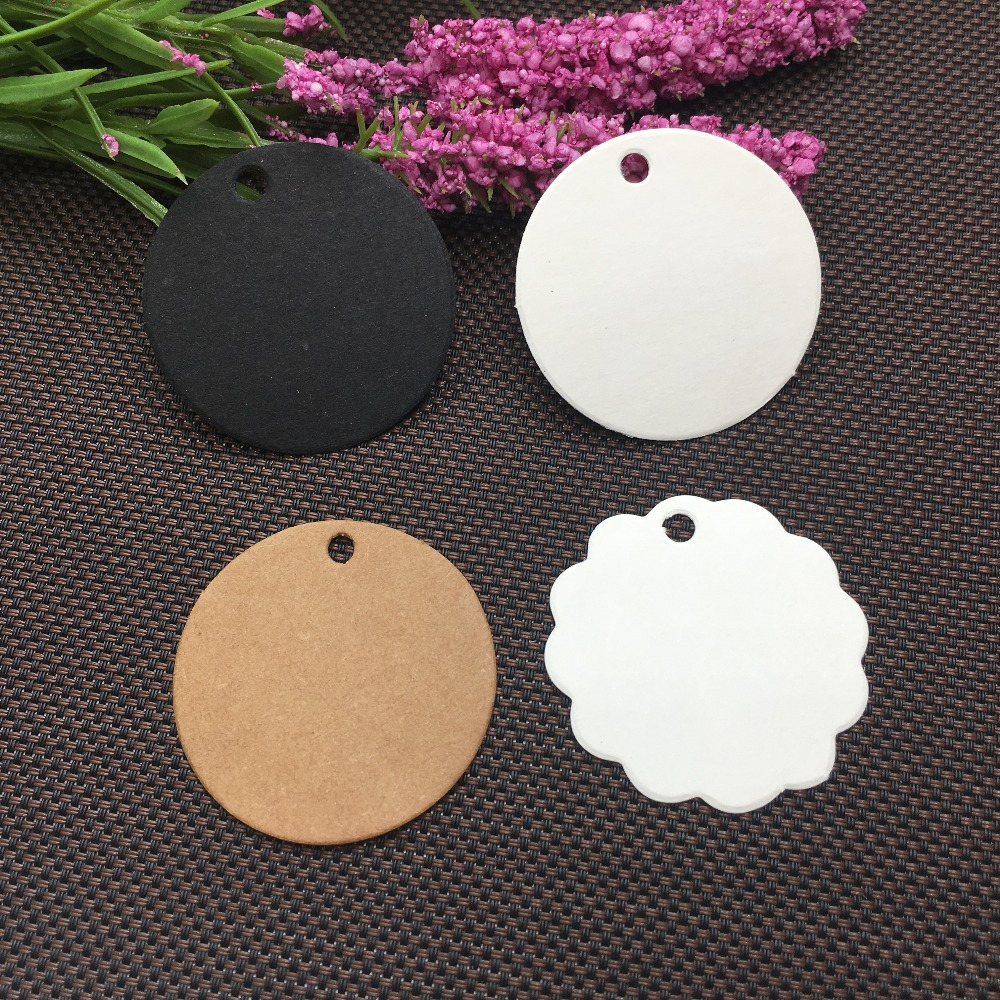 300pcs 3 Size Kraft Round Tags Gift Packing Labels Price Tags  Blank Little Luggage Label Accept Customize Logo MOQ:1000pcs