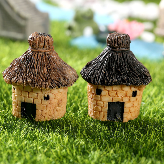 Mini House Fairy Garden Miniatures Villa Figurine Castles Terrarium Figurines  Miniature Garden Decoration Fairy Figurines