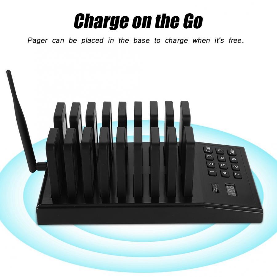 433.92MHz appel téléavertisseur système téléavertisseur Restaurant haute sensibilité 999 canaux sans fil téléavertisseur EU US UK Plug