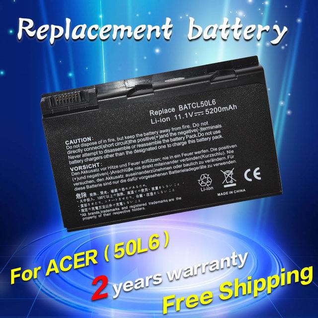 Batería para acer aspire 3100 3690 5100 5110 5515 jigu 5610 5630 5680 9110 9120 9800 9810 9920G BATBL50L4 BATBL50L6 BATCL50L6