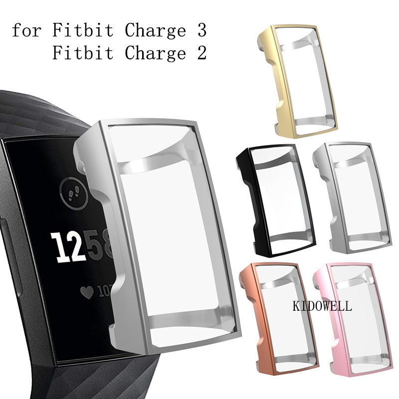 For Fitbit Charge 2 Bracelet Ultrathin Soft TPU Full Protective Clear Case Cover