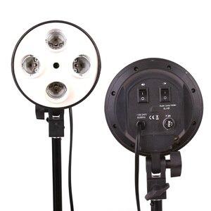 Image 1 - Hakutatz 4 in 1 E27 Base Socket Light Lamp Bulb Holder Adapter for Photography Video Studio Softbox Photo Studio Bulb Holder