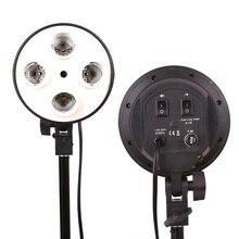 Hakutatz 4 in 1 E27 bankası soket işık lamba ampulü tutucu adaptörü fotoğraf Video Studio Softbox fotoğraf stüdyosu ampul tutucu