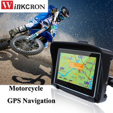 4 3 inch Motorcycle GPS Car GPS Navigation Waterproof IPX7 with bluetooth FM Avin built in
