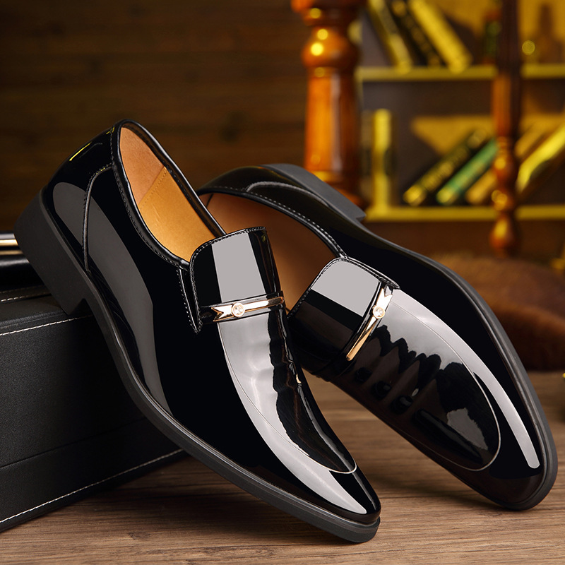 Summer Autumn Pointed Toe Mens Dress Shoes 2019 Breathable Black Wedding Shoes Formal Suit Office Shoes Man Leather in Oxfords from Shoes