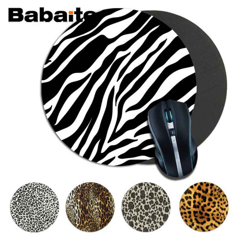 Babaite Funny animal Leopard 독특한 데스크탑 패드 게임 Mousepad 크기 200*200*2mm 및 220*220*2mm round mousepad Game Mousepad