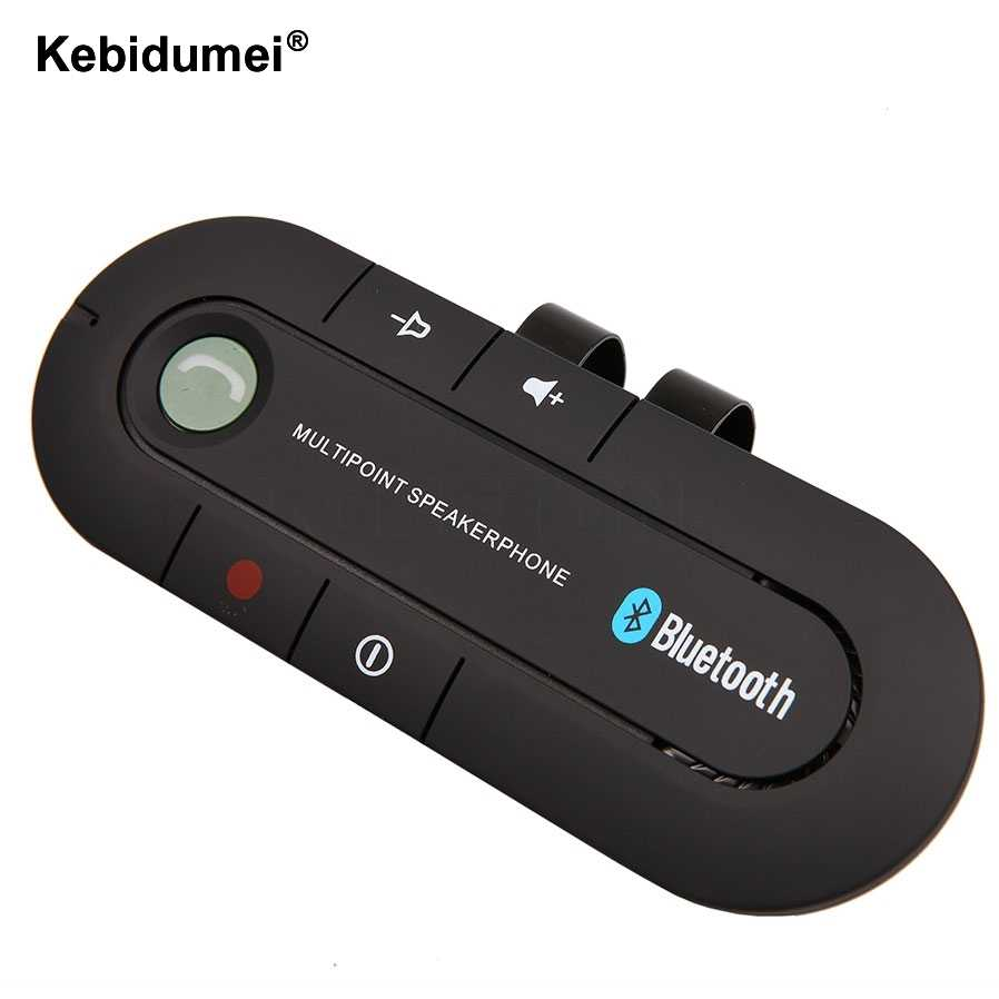 Kebidumei alta calidad inalámbrico Bluetooth Delgado magnético Kit manos libres coche altavoz teléfono Visor Clip para Iphone