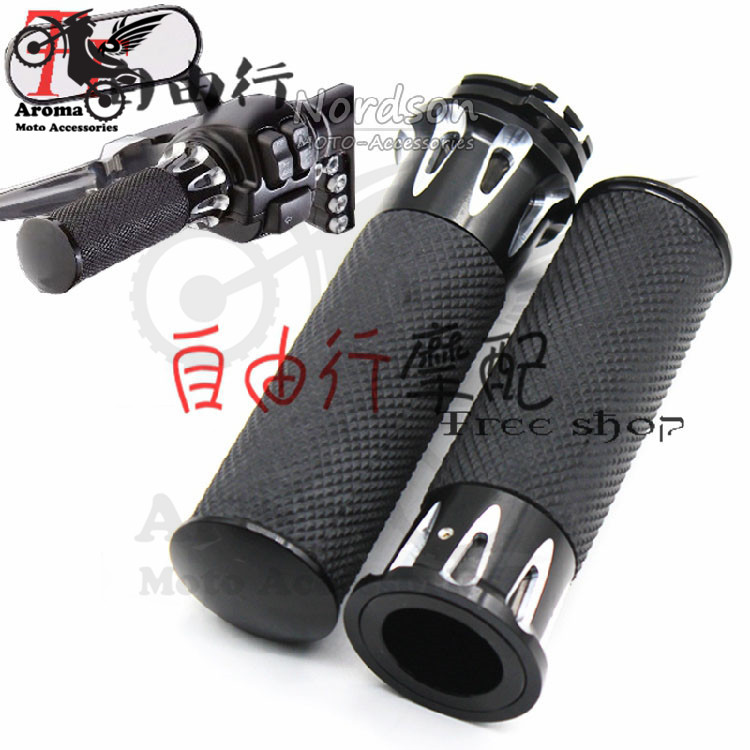 2 colors available black silver CNC parts motorcycle handlebar 25mm 1 inch univeresal for harley XL883 1200 X48 72 moto grip
