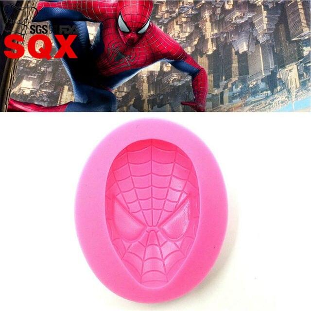 Spiderman Kuchen Dekorieren Silikonform Sugarcraft Fondant Silikon