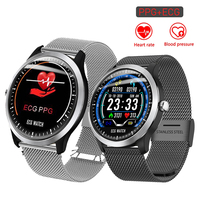 N58 ECG PPG Smart Watch With Electrocardiograph ECG Display Holter ECG Bracelet Heart Rate Monitor Blood Pressure Smartwatch