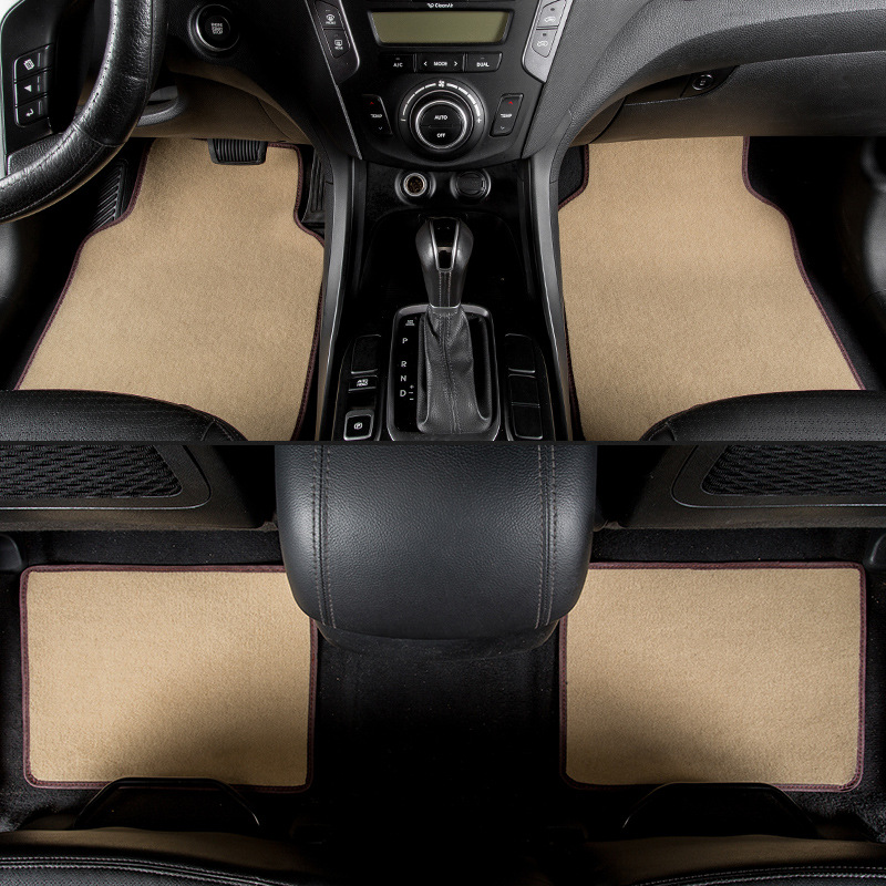 kalaisike universal car floor mats for Hyundai All Models terracan accent azera lantra elantra tucson iX25 i30 iX35 Sonata decorative badge logo metal sticker chrome metal fender car door emblem decal for hyundai ix35 ix45 lantra sonata elantra tucson
