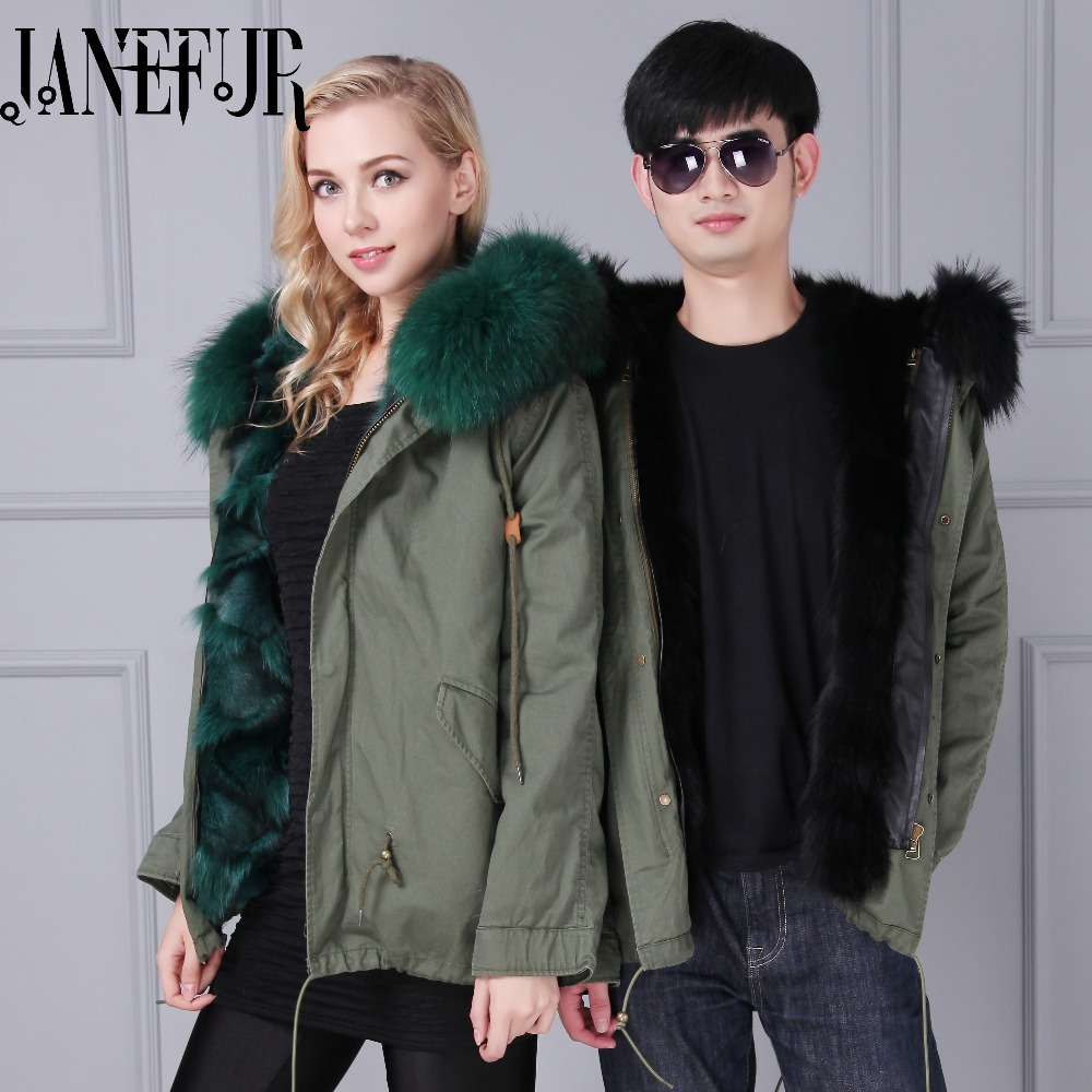2016 New Large Real Raccoon Fur Collar Fox Fur Coat Liner Female Coat Army Green Jackets Slim Winter Jacket Women 2017 winter new clothes to overcome the coat of women in the long reed rabbit hair fur fur coat fox raccoon fur collar