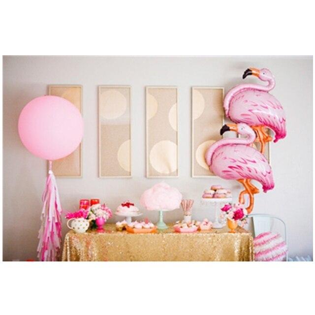 Pink Flamingo Party Balloons Tropical Hawaiian Luau Party Decoration ...