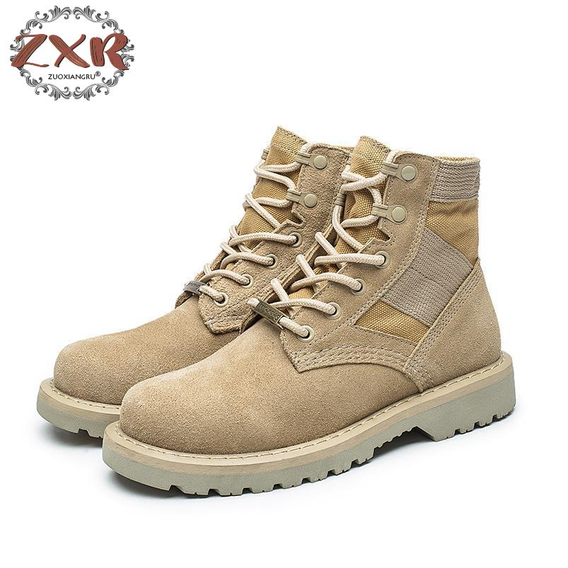 6562b7c5f7e0b8 De Cheville Femmes Daim 1 En 2 Mode L'automne Bottes Chaussures Début  Zuoxiangru 3 Cuir ...
