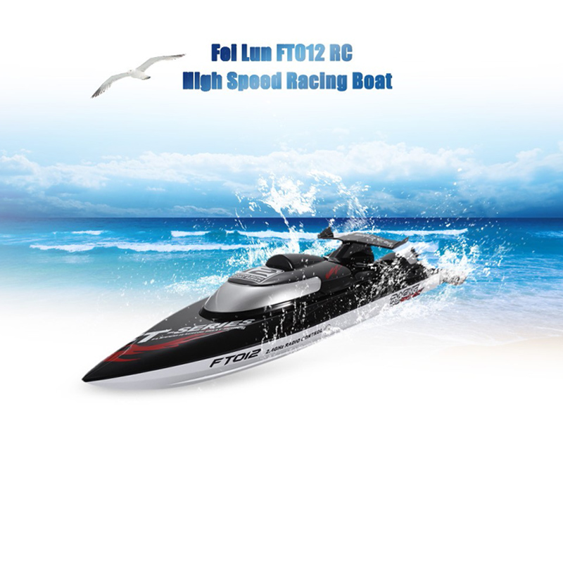 Fei Lun FT012 RC Boats 2.4G 4CH Brushless Racing Boat Triple Cover High Speed of 45km/h RC Boat with Water Cooling System Toys