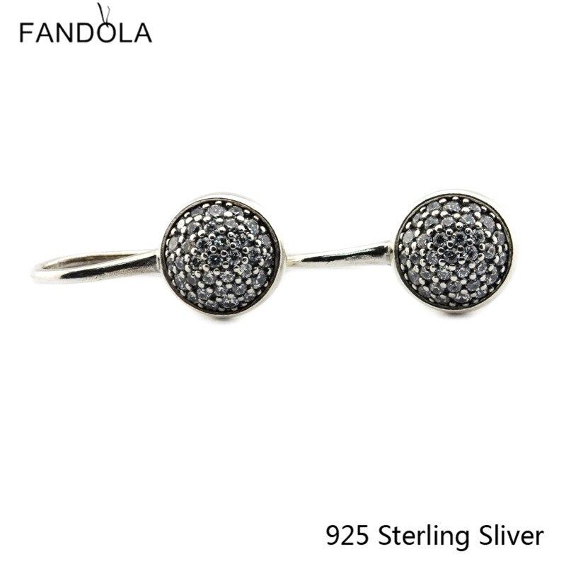 CKK 925 Sterling Silber Dazzling Droplets Ohrstecker Für Frauen - Edlen Schmuck - Foto 3