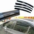 4 unids Ventanas Deflectores Vent Viseras Lluvia Guardia Parasol Oscuro Para Chevrolet Cruze
