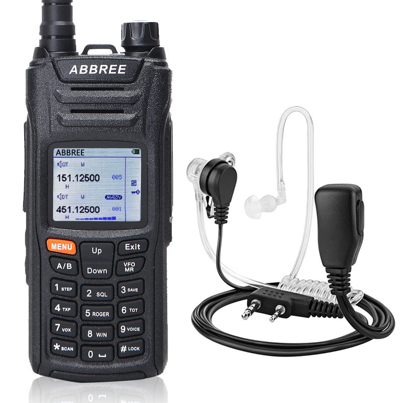 ABBREE AR F6 Walkie Talkie 6 Bands Dual Display 999CH VOX DTMF SOS Scanning Stopwatch Functional