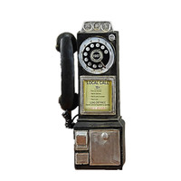 Vintage Telephone Model Wall Hanging Crafts Ornaments Retro Home Furniture Figurines Phone Miniature Home Decoration Gift R163