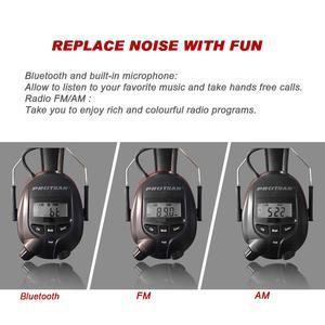 Image 2 - Protear 1200mAh Lithium Batterie NRR 25dB Gehör Protector Bluetooth AM/FM Radio Ohrenschützer Elektronische Ohr Schutz