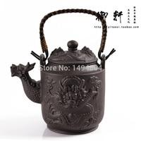 Tea Set 760ML Chinese Yixing Larger Teapot,Dragon Tea Pot, Handmade Tea Sets,China Kungfu Teaset,Genuine Purple Clay Tea Kettle
