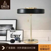 Итальянский контракт и модные Спальня настольные лампы прикроватные светильники Фонари украсить стол исследования свет