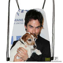 Custom Ian-Somerhalder-Lost-Reunion @01-Drawstring Backpack Bag Cute Daypack Kids Satchel (Black Back) 31x40cm#180611-03-102