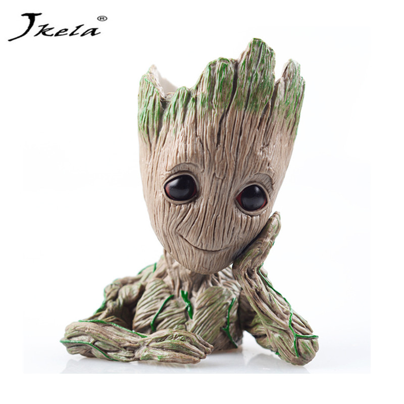 [Jkela] Tree Man Groot Guardians of The Galaxy Baby Action Figures legoing Marvles Model Toy Pen Pot Best For Kids