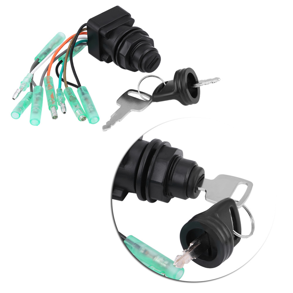 Motor Ignition Key Switch Assembly for Suzuki Outboard Control Box