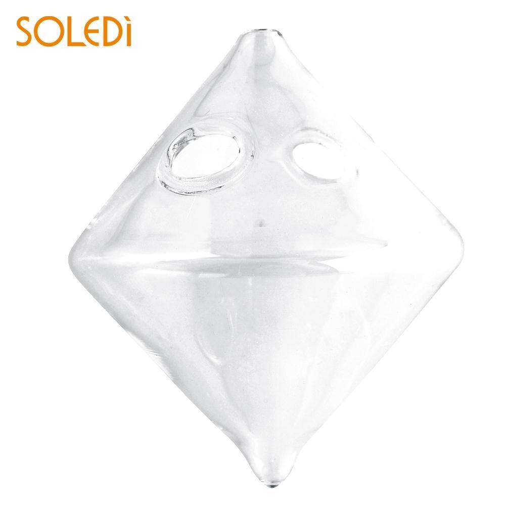 Transparent Rhombus Crystal Glass Flower Vase Hydroponics Hanging Party
