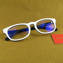 Anti-Blu-ray anti-radiation no degree glasses image hair stylist personality white side ocean frame decorative mirror