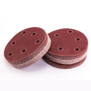 Image 2 - 20pcs/set 125mm 6 Hole 80/120/180/240/320 Grit Sanding Disc Random Orbit Hook & Loop Sander Sand Paper Discs Grit Sand