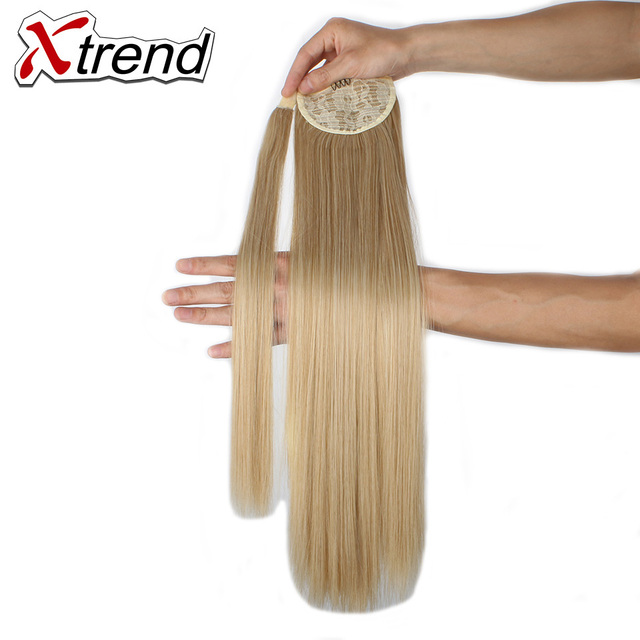 Xtrend Synthetic Straight Ponytails Hairpieces With Hairpins For
