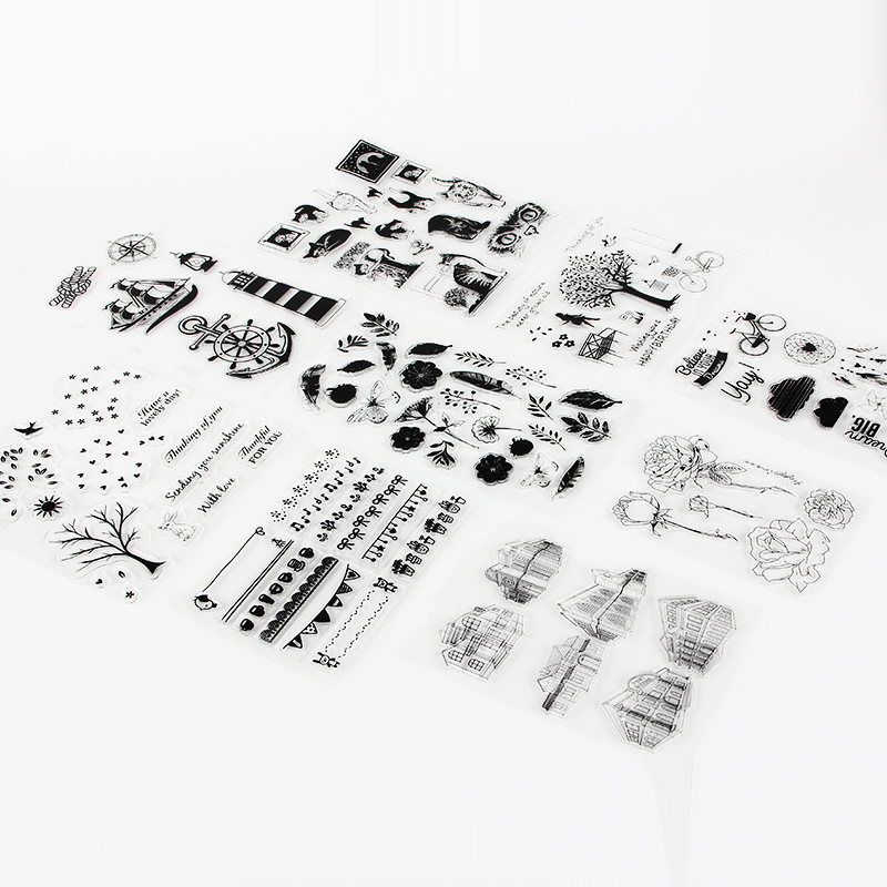 2018 New DIY photo album hand account rubber stamp finished chapter transparent seal