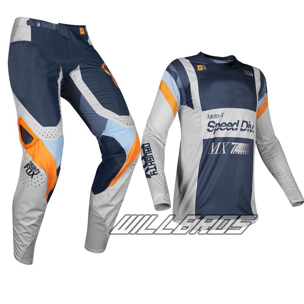 2019 Corsa 360 Murc Mx Grigio Chiaro Gear Set Motocross Suit Dirt Bike Sport Jersey Pantaloni Combo