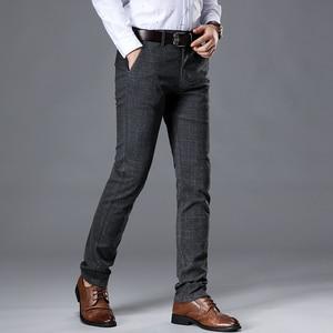 Image 2 - VOMINT 2020 New High Quality Mens Elastic Casual Pants Mens Business Dress Slim Jogger Stretch Long Trouser Male Suit Pants