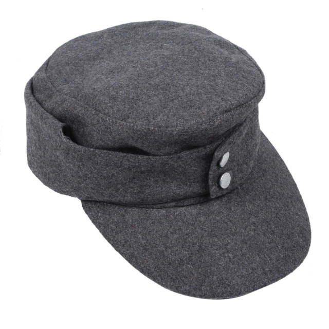 0faf45c7592 placeholder WWII GERMAN ARMY EM PANZER M43 M1943 FIELD WOOL CAP GREY IN  SIZES-33693