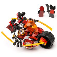 336pcs 2 in 1 Ninja Kais Armour Robot Building Blocks Bricks Figures DIY Compatible Brand Minifigs Toys Gifts For Kid