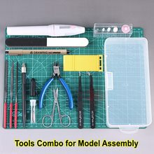 Modelo de ferramentas de construção, combo de ferramentas de polimento de gundam, modelo de hobby militar, diy, acessórios, conjunto de ferramentas de polimento